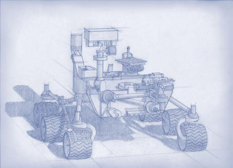 Blueprint of next generation Mars Curiosity rover