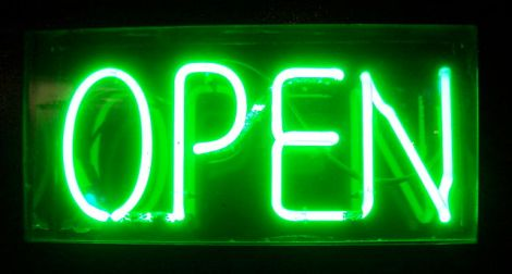 Neon Open green by Justinc on Wikimedia Commons. Used under Creative Commons license. http://commons.wikimedia.org/wiki/File:Neon_Open_green.jpg