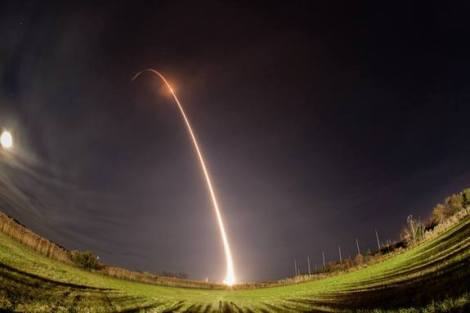 Minotaur 1 launch from Wallops Island 11/191/13 by NASA, via Space.com. http://www.space.com/23637-rocket-launch-photos-minotaur-1-ors3-mission.html