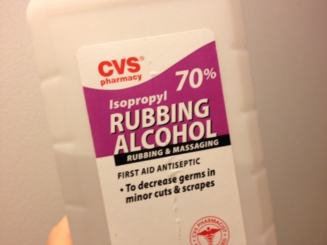 Isopropyl alcohol rubbing alcohol